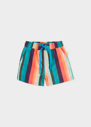 Paul Smith Baby Boys' 'Artist Stripe' Print Swim Shorts