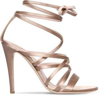Alberta Ferretti 105mm Satin Lace-up Sandals