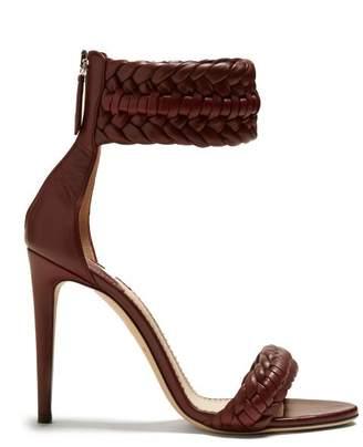 Altuzarra Ghianda Braided Detailed Heeled Sandals - Womens - Burgundy