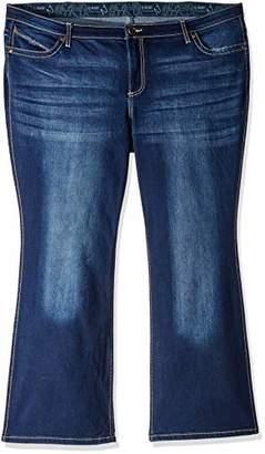 Wrangler Women's Q- Dark Wash Ultimate Riding Jeans Boot Cut 5W x 36L