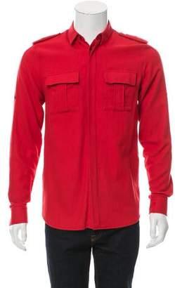 Balmain Military Button-Up Shirt
