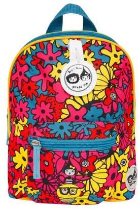 Babymel Zip & Zoe Mini Kids' Backpack & Safety Harness - Floral Brights