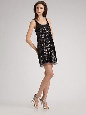 Maloom Sequined Tulle Tank Dress