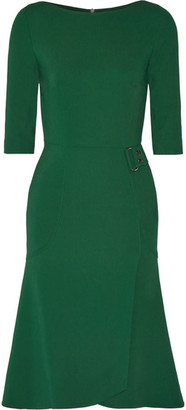 Roland Mouret - Healey Stretch-cady Dress - Forest green $2,390 thestylecure.com
