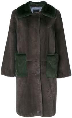 3dc4b54f4fd Liska oversized two-tone coat