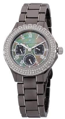 Mother of Pearl Herzog & Shne Herzog & Söhne Women's Quartz Watch with Dial Analogue Display and Grey Ceramic Bracelet HS202-622B