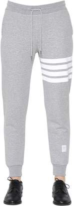 Thom Browne Intarsia Stripes Cotton Sweatpants