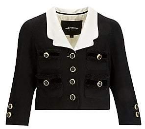 Marc Jacobs (マーク ジェイコブス) - Marc Jacobs Marc Jacobs Women's Wool Crop Blazer