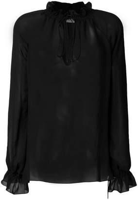 Saint Laurent semi-sheer Pirate blouse