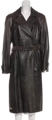 Max Mara Weekend Leather Long Coat