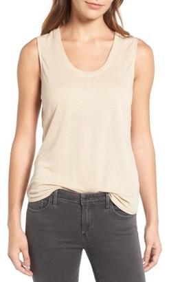 Women's Trouve Cutout Drape Back Tank $49 thestylecure.com