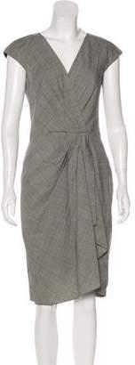 Michael Kors Virgin Wool Plaid Dress