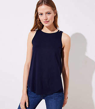 LOFT Cutout Shoulder Tank
