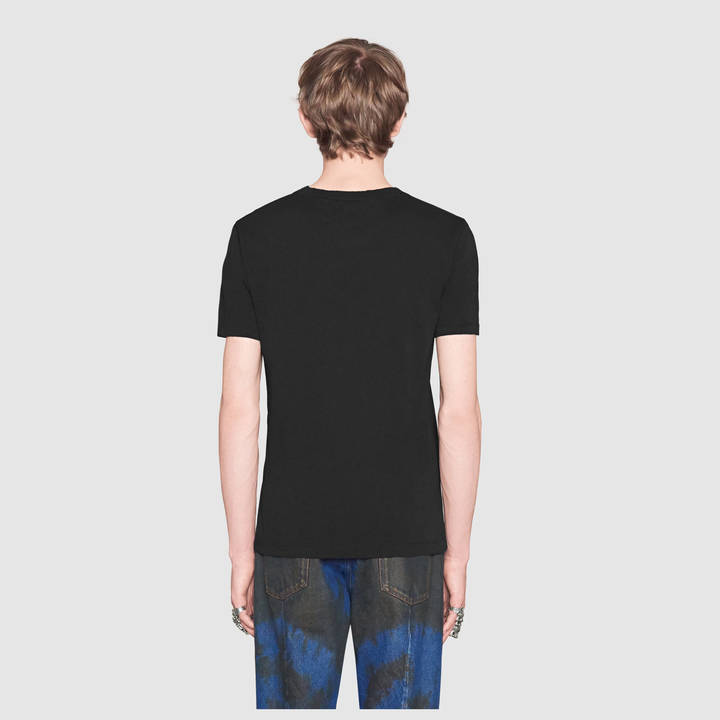 Washed t-shirt with Gucci print 6
