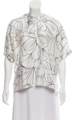 Christian Wijnants Printed Silk Top w/ Tags