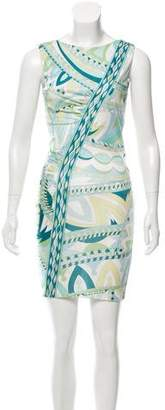 Emilio Pucci Signature Print Sleeveless Dress w/ Tags