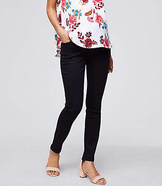 LOFT Maternity Skinny Jeans in Black