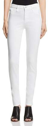 AG Jeans Prima Mid-Rise Cigarette Sateen Jeans in White