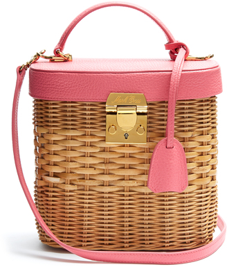 MARK CROSS Benchley rattan and leather shoulder bag $1,786 thestylecure.com