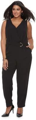 JLO by Jennifer Lopez Plus Size Wrap Jumpsuit