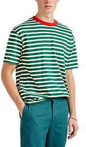"4HUNNID Men's ""Members Only"" Striped Cotton T-Shirt - Md. Green"