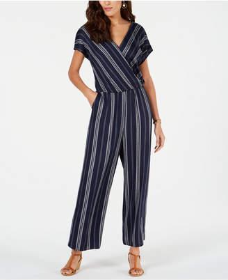 f68c8a38523 Style Co. Style   Co Petite Printed Blouson Jumpsuit