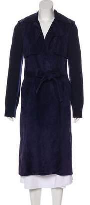Derek Lam Belted Leather Coat