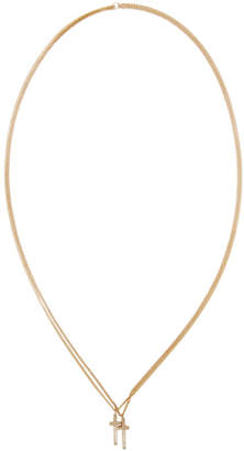 DSQUARED2 Gold Jesus Necklace