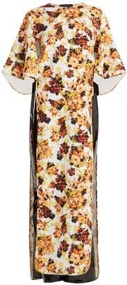 Ellery Magnificent 8 floral-print cut-out cady dress