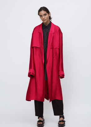 Haider Ackermann messier raspberry trench coat $2,055 thestylecure.com
