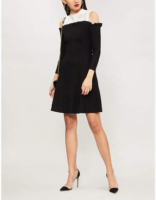 The Kooples Contrast-neckline knitted dress