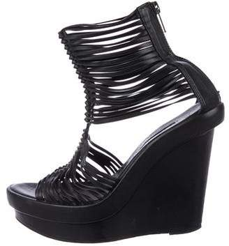 Ann Demeulemeester Cage Wedge Sandals