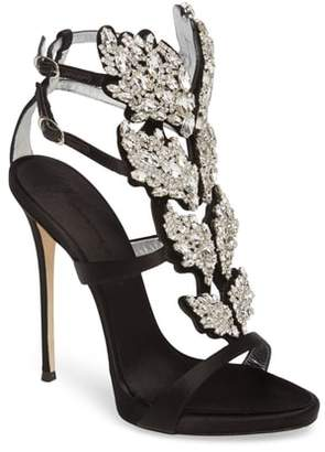 Giuseppe Zanotti Cruel Wing Crystal Embellished Sandal