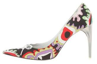 Emilio Pucci Printed Pointed-Toe Pumps