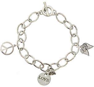 Catherine Galasso Peace, Love & Faith Charm Bracelet