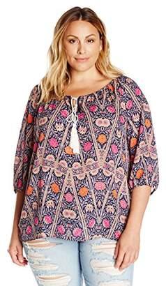 Single Dress Women's Plus-Size Peasant Top $130.50 thestylecure.com
