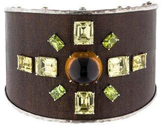 John Hardy Citrine, Peridot & Lemon Quartz Bamboo Cuff $1,545 thestylecure.com