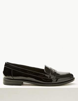 Marks and Spencer Extra Wide Fit Block Heel Penny Loafers