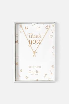 Girls On Film Orelia Bridesmaid Wishbone Necklace Gift