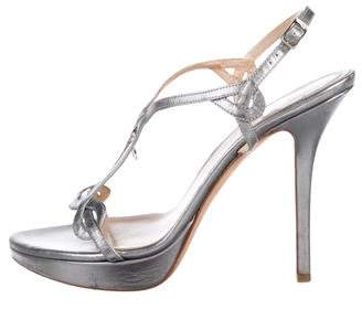 Christian Dior Leather Ankle Strap Sandals