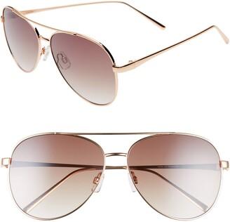 BP 60mm Browbar Metal Aviator Sunglasses