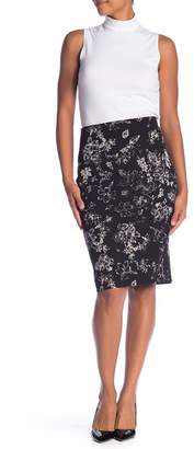 Philosophy Apparel Floral Vented Pencil Skirt