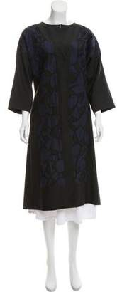 Lyn Devon Embroidered Long Coat