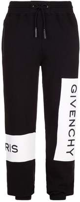 Givenchy Logo Panel Jersey Sweatpants