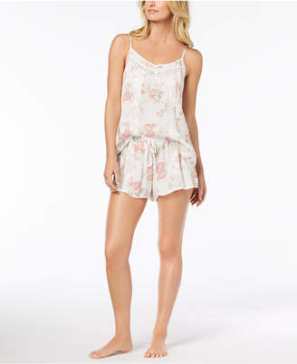 Linea Donatella Day Dream Lace-Trim Pajama Short Set