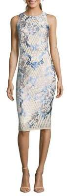 Nicole Miller New York Embroidered Sleeveless Sheath Dress