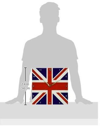 NAVAL 3dRose Union Jack Old British Flag, Wall Clock, 13 by 13-inch