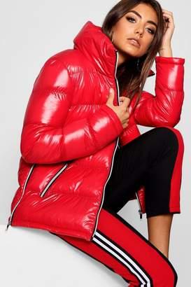 boohoo High Shine Padded Jacket