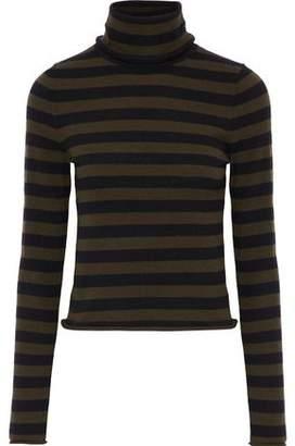 A.L.C. Striped Wool-Blend Turtleneck Top