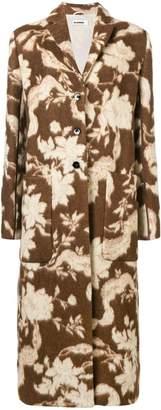 Jil Sander Fullerton floral coat